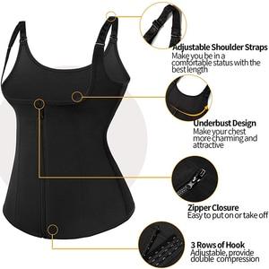 Image 3 - נשים Neoprene Shaperwear מותן Traine לדחוף את אפוד בטן בטן מחוך גוף Shaper מותן Cincher מחוך Faja חגורת הרזיה