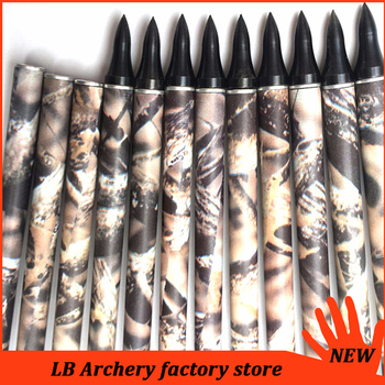 6/12pcs Archery Pure Carbon Arrows Spine400 1k Weave ID6.2MM 32inch Point 75gr Camouflage Arrows for Compounds Bow Hunting 4