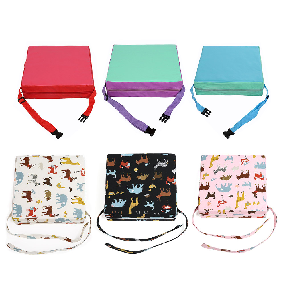 Children Increased Chair Pad Baby Dining Kids Cushion Adjustable Removable Chair Booster Sponge Leather Cushion  Pram Chair Pad