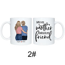 11oz Mother and Daughter Mug with Large Capacity Ceramic Coffee Cup  Mom Gift from Daughter Birthday Mothers Day JS23