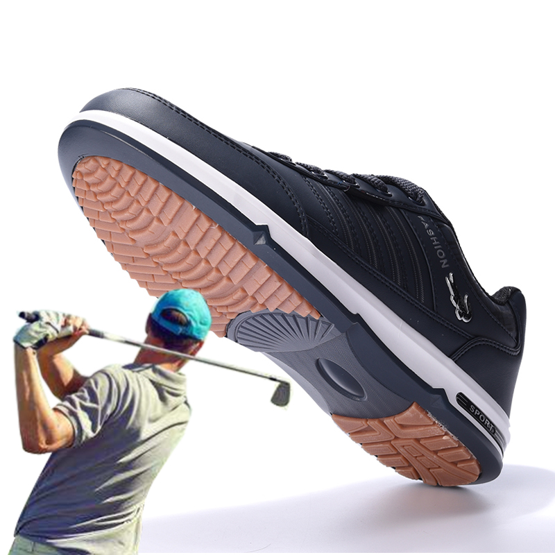 Quality Golf Shoes Men's Non-slip Nailless Tendon Bottom Lightweight Wear-resistant Breathable Daily Outdoor Sports Shoes Large