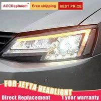 2Pcs LED Headlights For VW Jetta 2012 2018 led car lights Angel eyes ALL LED Fog lights LED Daytime Running Lights