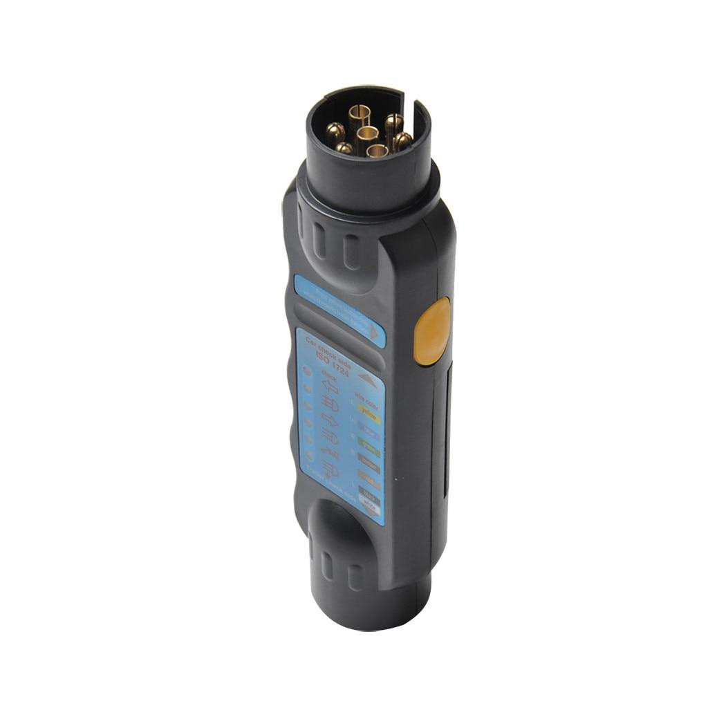 12V 7 Pin Car & Luzes de Reboque Reboque Plug & Socket Cabo de Fiação do Circuito Tester Com um sistema диагностический сканер 6 luz LED