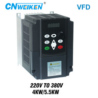 Variable Frequency Converter for Motor Speed Control 220V to 3 phase 380V 4/5.5KW Adjustable Speed frequency inverter