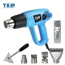 TASP pistola de aire caliente eléctrica, 2000W, temperatura Variable 60 ~ 600C, encendedor para barbacoa, 5 boquillas y raspador, herramientas eléctricas