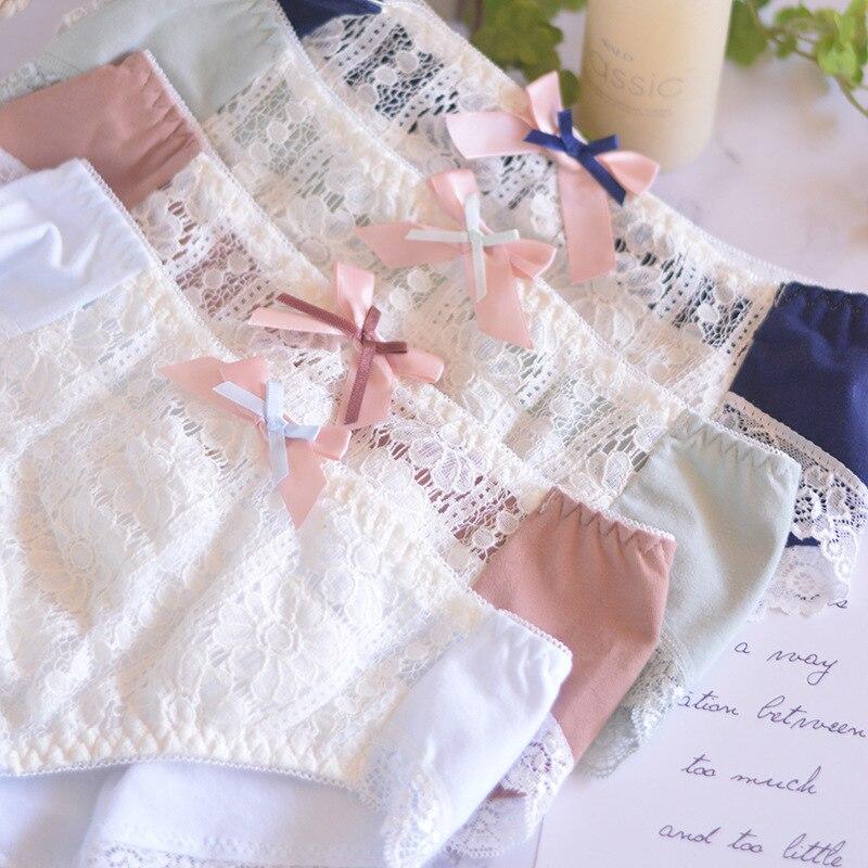 SP&CITY Classical Floral Lace Panties For Women Patchwork Hollow Out Sexy Underwear Cotton Briefs Lace Edge Female Lingerie