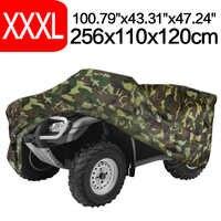 256 cm 100 polegada xxxl 190 t camuflagem atv motor scooter moto cobre à prova de chuva à prova d água poeira uv sun protector d30