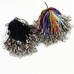 100 adet kordon kement askı kabloları ıstakoz kanca halat anahtarlıklar kancalar cep seti takılar anahtarlık çanta aksesuarları anahtarlık