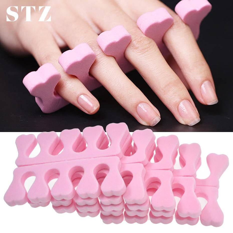 STZ 2pcs Soft Foam Sponge Finger Toe Separators Professional Feet Divider UV Gel Polish Nail Art Tools Pedicure Manicure TR20-1
