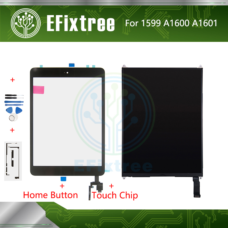 New A1599 A1600 A1601 Touch Screen With Board For IPad Mini 3 LCD Display 7.9 Inch With Tool And Sticker And Home Button