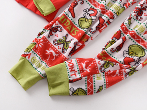 Image 5 - Hot sale Christmas Women pyjamas Plus size winter knit cotton pajama sets women Fresh green long sleeve casual sleepwear women