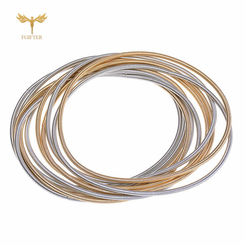 Memory Spring Wire Bracelets Women Men Fun Bracelet 19MM Length Steel Wrap Bangle Jewelry Accessory 3 Pieces Sale
