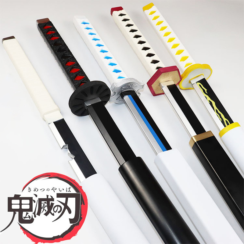 Devil's Blade Pu Sword Weapon Knife Props Demon Slayer Cosplay Tanjirou Samurai Sword Pu Ninja Espada Katana Toys For Teens