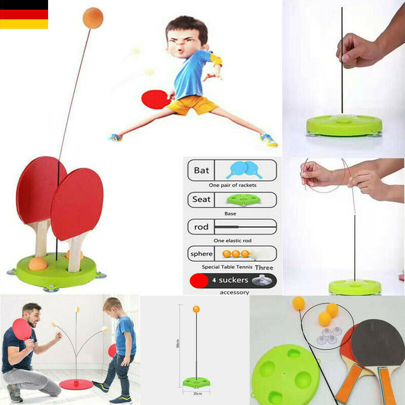Portable Table Tennis Trainer Table Tennis  Training Machine Elasticity Ping Pong Practice Trainer Indoor Kid Adult Toy
