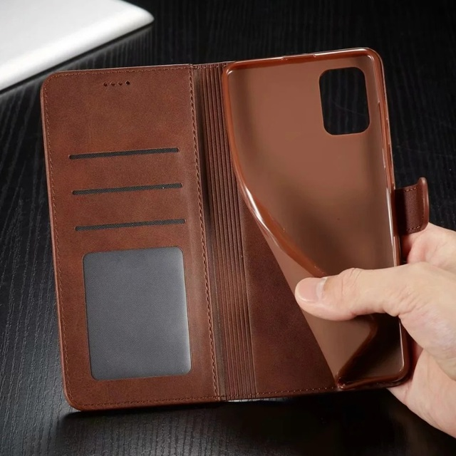 Leather Wallet Case for iPhone 12 Pro Max Mini 11 XS XR X SE 2020 8 7 6 6s Plus 5S 5 Luxury Flip Cover Coque Card Slots Magnetic 4