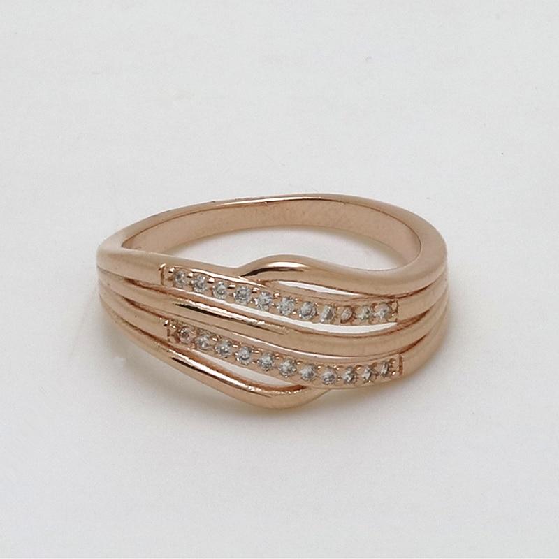 Ασημένια Και Χρυσά Δαχτυλίδια Με Κρύσταλλα 1pc