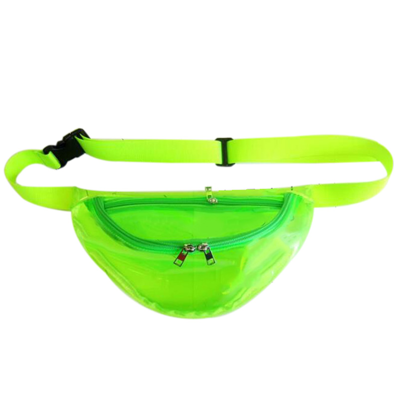Multi-Function Jelly Transparent Purse Harajuku Style Personality Outdoor Sports Cross-Body Chest Bag