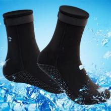 3mm neoprene meias de mergulho sapatos botas de água não-deslizamento botas de praia wetsuit sapatos de aquecimento mergulho surf meias para adultos