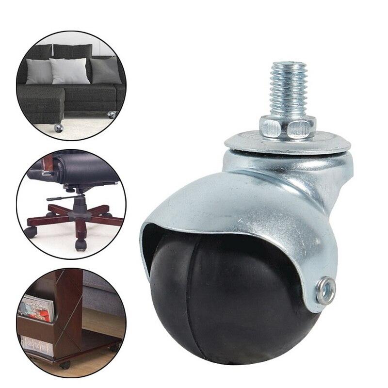 80kg4pcs rodas rodízios móveis rodízios rodízios de borracha macia roda de rolo prata para plataforma cadeira do trole acessórios domésticos-5