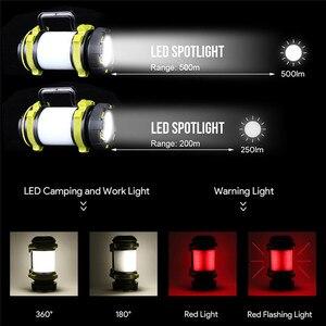 8000 люмен 100 Вт долгое использование, USB Перезаряжаемый светодиодный фонарь, фонарь для кемпинга, водостойкий уличный поисковый фонарик для охоты на рыб