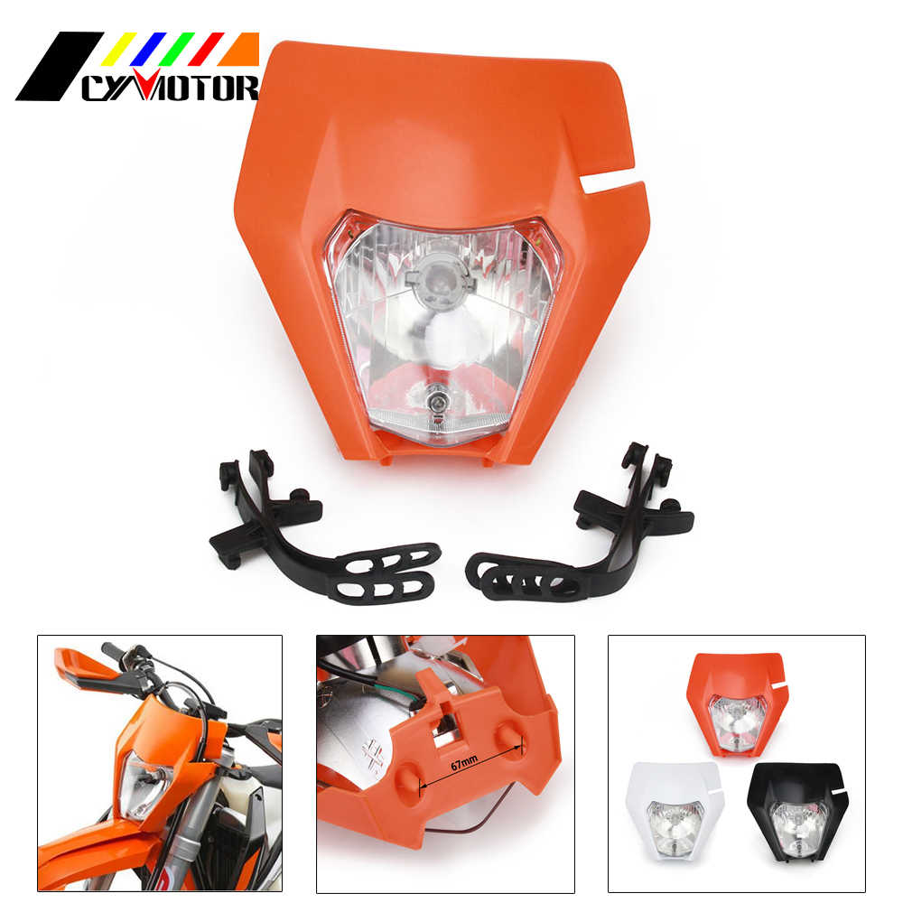 Moto 2016 2017 2018 phares phares lampe frontale pour KTM EXC SX SXS EXCF XCW 65 125 150 200 250 300 350 450 500 525