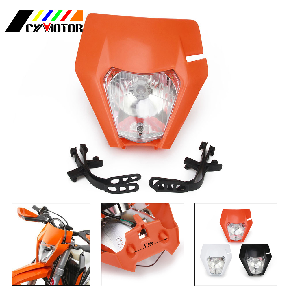 Motorcycle 2016 <font><b>2017</b></font> 2018 Headlamp Headlights Head Light Lamp For <font><b>KTM</b></font> EXC SX SXS EXCF XCW 65 125 150 200 250 300 350 <font><b>450</b></font> 500 525 image
