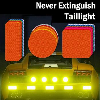 High Visibility Reflective Car Sticker Warning Stripe Mark Tape Car Wheel Safety Reflector Strip Self Adhesive Bike Motorcycle image