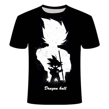 Summer t shirt men Anime Print Dragon Ball 3D T-Shirt Tees Master Men T Streetwear funny