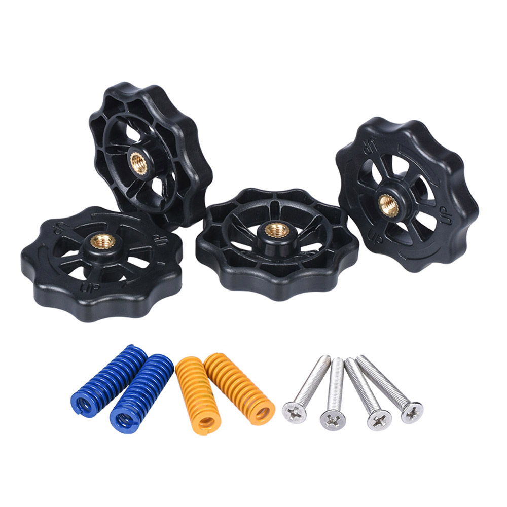 3D Printer Parts Heated Bed Spring Leveling Kit Adjustment Nut+Springs+ Screw Heatbed Kit For CR-10