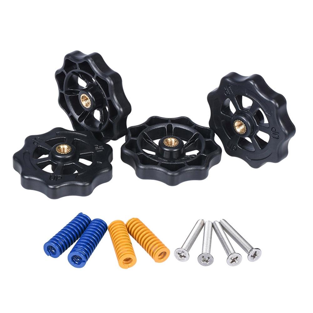 3D Printer Parts Heated Bed Spring Leveling Kit Adjustment Nut+Springs+ Screw Heatbed Kit For CR-10 Ender 3 MK3 Hotbed