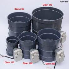 PVC elektrikli hava kanalı değeri 110-310 Mm çap hava damperi valfi motorlu boru vana 220V aktüatör HVAC havalandırma sistemi için