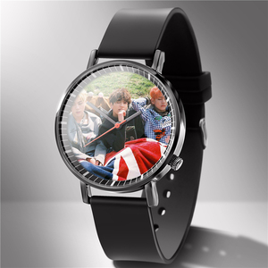 Image 5 - Mannen Horloge Rubber Liefhebbers Horloges Diy Kan 1 Stuk Custom U Foto Logo Foto Klok Bewerking Uur Drop Shipping Gift familie