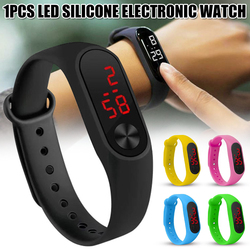 Silicone Wrist Watch for Men and Women Watches Electronic Candy Colors Watches LED Casual Wristwatch Wristband Sports Watch