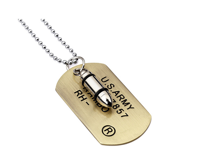 Mancave War Wall Decor Leather Wall Decor Bullet Wall Art Military Necklace Bullet Necklace Mens Gift Mans War Necklace