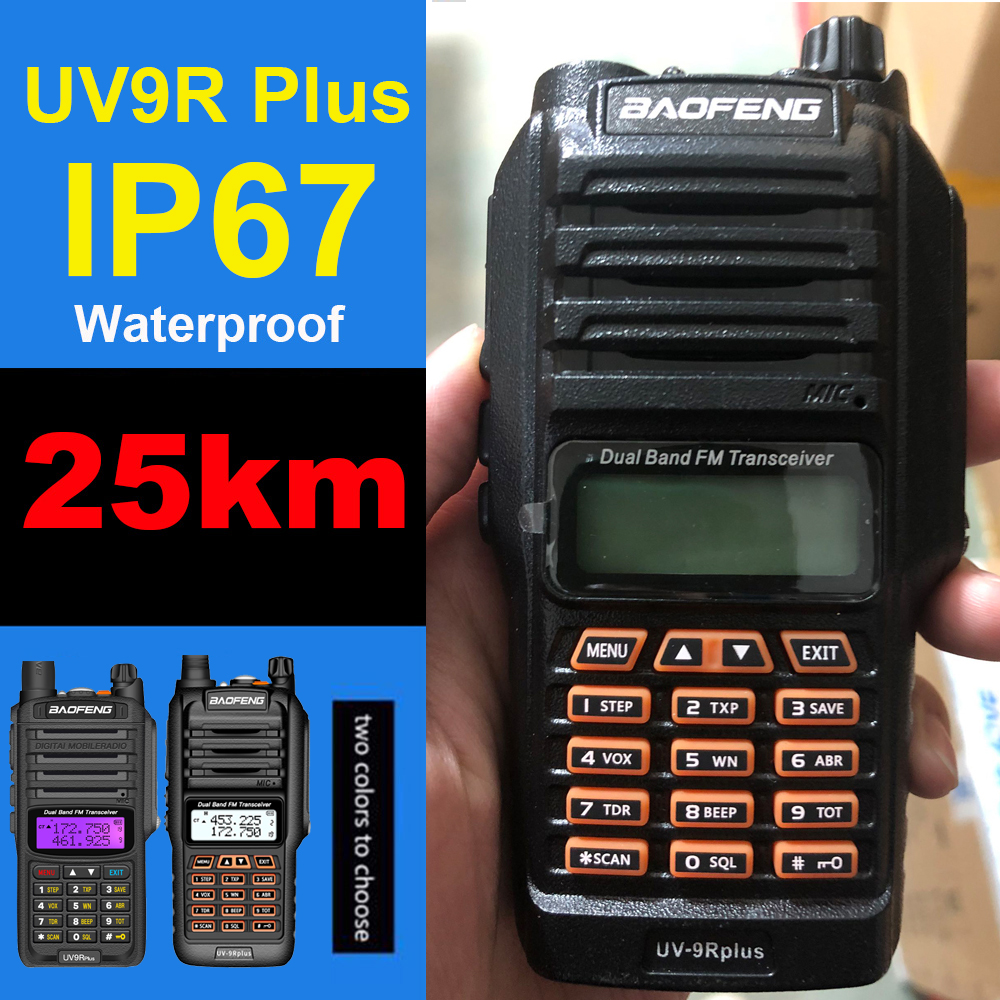 Baofeng UV 9R Plus Walkie Talkie 10-50km Long Range Two Way Radio Baofeng Vhf Uhf Baofeng Uv9r Plus Ham Radio CB Radio Station