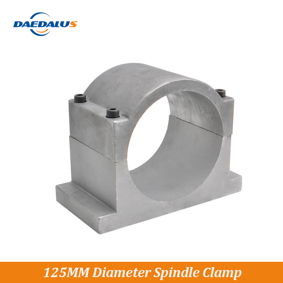 Daedalus Spindle Motor Holder 125Mm Diameter Spindle Mount Bracket Clamp With Screws For 300W 400W 500W 600W Spindle Motor