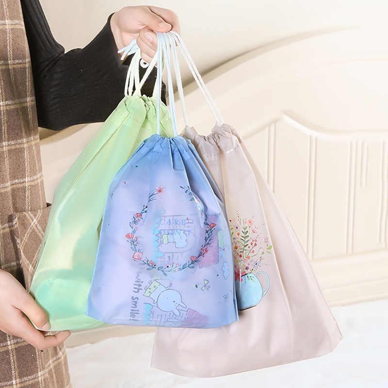 Jiyaru المحمولة الرباط أكياس الملابس أحذية الحقيبة حقيبة التخزين أكياس السفر ماكياج BagsLuggage منظمة توفير مكان