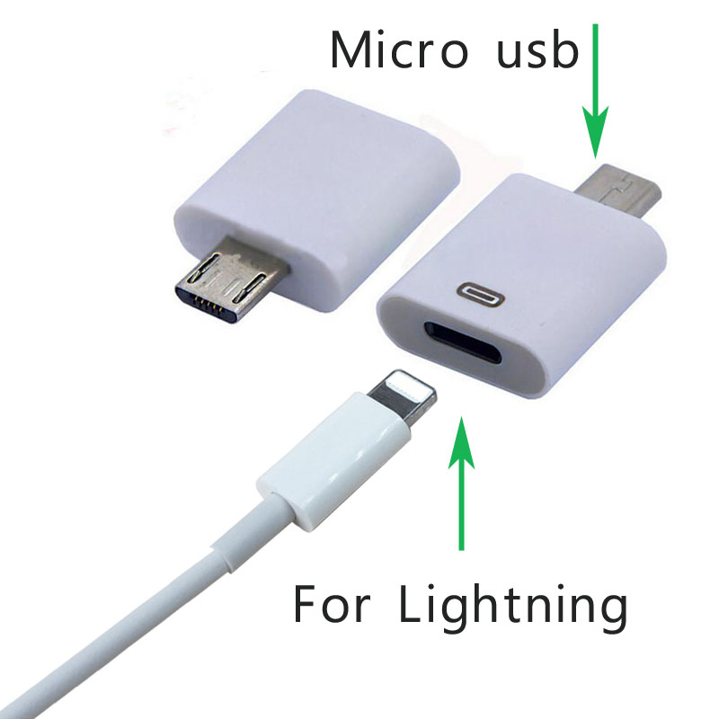 Adapter kabla USB 8Pin dla iPhone 5S 6S do złącza Lightning na Micro USB Android Telefon Kable Złącze dla Samsung HTC