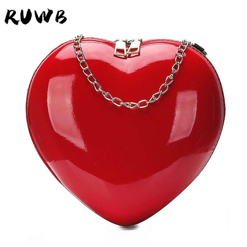 RUWB Fashion Small Women Messenger Bags For Women Red Small Party Purse Shoulder Bag Ladies Evening Clutch Bags Bolsa Feminina