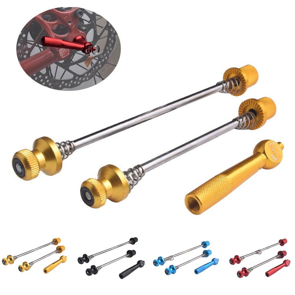 Ultraleve titanium ti eixo qr espetos mtb bicicleta de estrada liberação rápida 5mm dianteiro cubo da roda traseira pós liberação rápida
