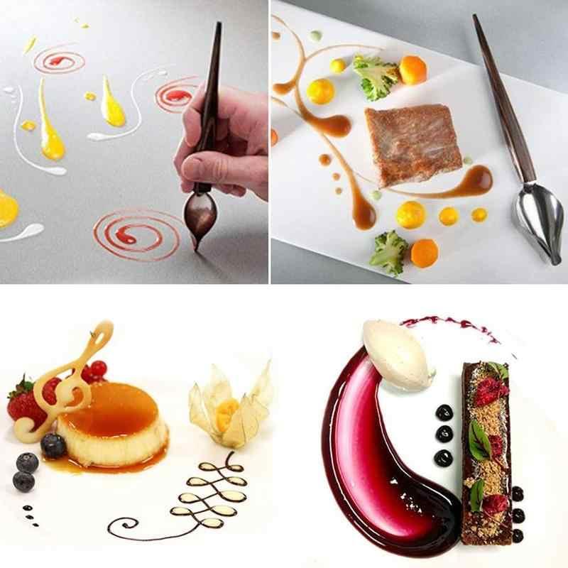 1 Pcs Creative Deco Spoon Decorate Food Draw Tool Design Cake Sauce Tools Dessert Spoons Plate Bakeware Dressing E3R0