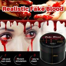 15g Artificial Simulated Plasma Halloween Special Effects Makeup Wax For COS Fake Scars Vampire Zombie Props Accessories TSLM1(China)