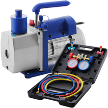 Vacuum-Pump-Kit Refrigerant VEVOR Air-Conditioning Vane CFM Rotary HVAC 1/3hp