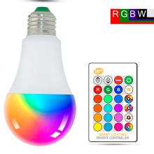 цена на LED RGB  Magic Light E27 RGB LED Lamp 5/10/15W  85-265V LED Bulb Lampada LED Lamps 16 Color Changeable With IR Remote Controller