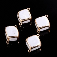Irregular Pearl Shell Connector Fashion Pendant Charms For Jewelry DIY Making Bracelet Necklace Accessories