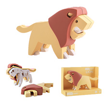 Cute Cartoon Animals for Children Plastic Puzzles Pieces Early Education Game Montessori Toys Jigsaw Puzzle 3d Puzzle Kids Gift flyingtown montessori teaching aids balance scale baby balance game early education wooden puzzle children toys