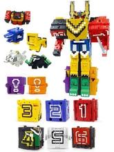 큐브 조립 빌딩 블록 교육 완구 액션 그림 변환 번호 로봇 변형 로봇 장난감 어린이를위한