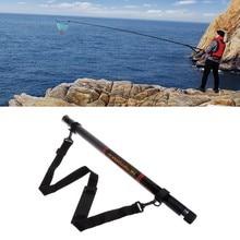 5.4m retrátil pesca landing net haste redonda estiramento brail ferramentas portáteis transporte da gota