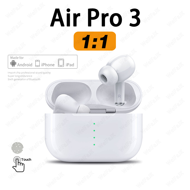 Оригинальные беспроводные наушники Air Pro 3 копия 1 в 1 TWS Bluetooth наушники-вкладыши наушники гарнитура для iPhone Android