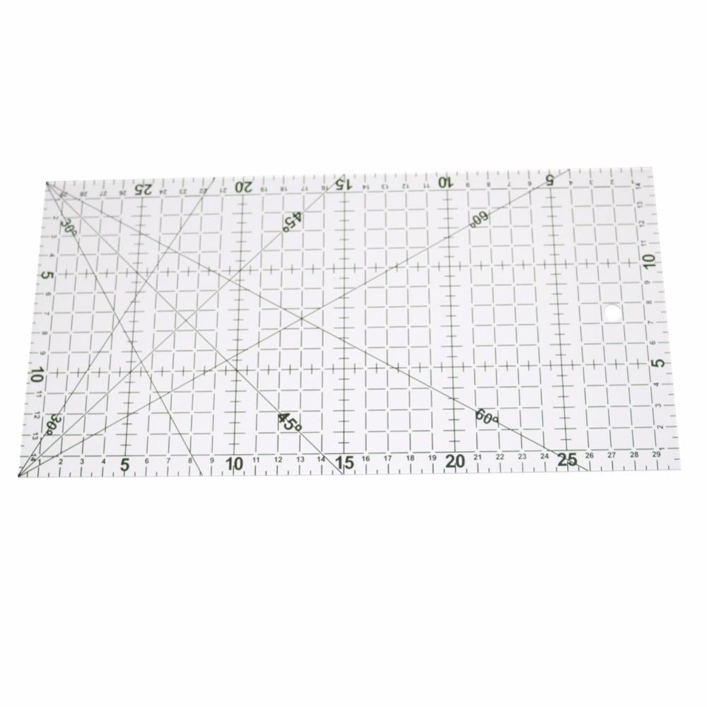 Regla transparente de dibujo, 1 unidad de 30x15cm, regla alineada con Patchwork acrílico, suministros de medición para costura de oficina y escuela